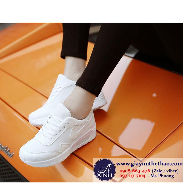Giày thể thao nữ màu trắng nữ tính GTT0201