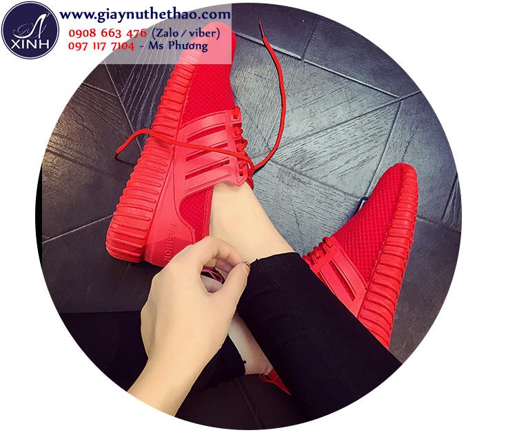 Giày thể thao nữ màu đỏ xinh xắn GTT4402