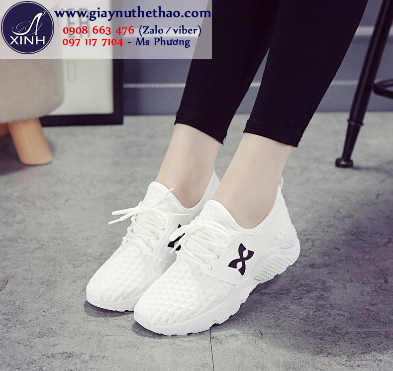 Giày thể thao nữ trắng tinh khôi trẻ trung GTT5301