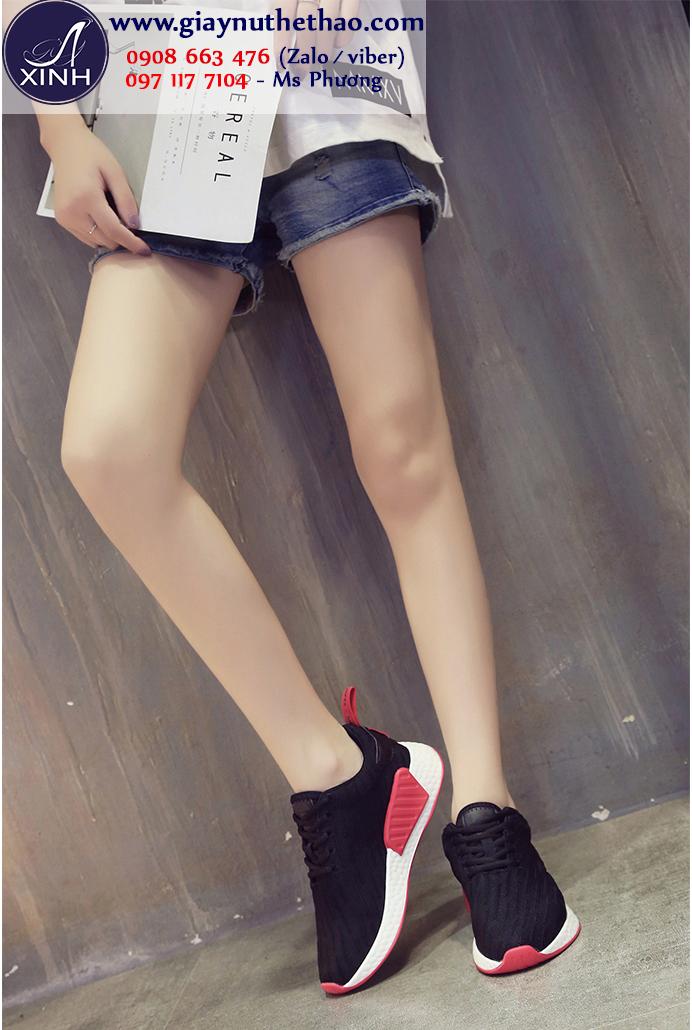 Giày thể thao nữ hiện đại màu đen GTT5902