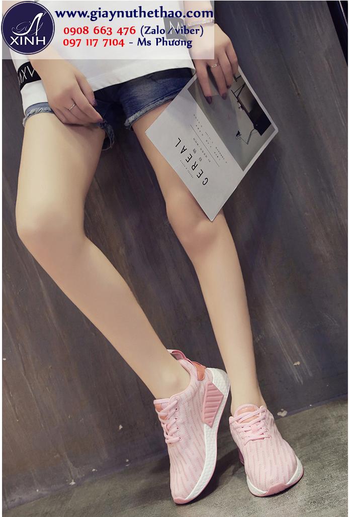 Giày thể thao nữ màu hồng xinh xắn GTT5901