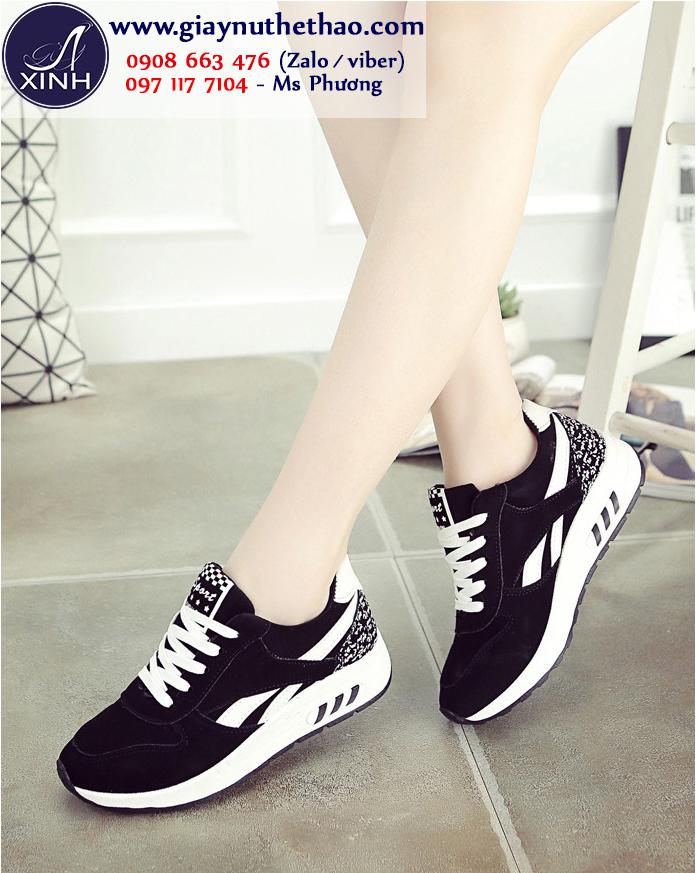 Giày thể thao nữ đen hiện đại sành điệu GTT6201